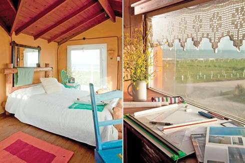 Casa Camet Norte: Recámaras de estilo rústico por Susana Bellotti Arquitectos