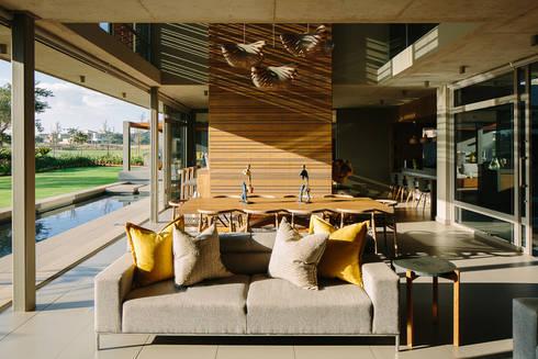 House Serengeti: modern Living room by www.mezzanineinteriors.co.za