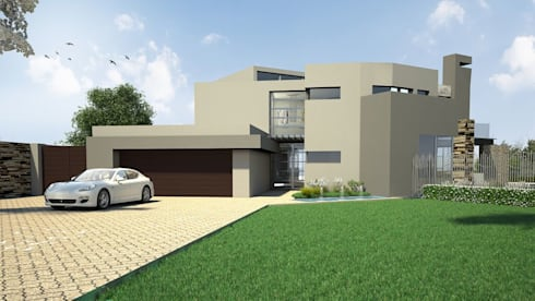 House Maroun—Serengeti Golf Estate—Benoni: modern Houses by House of Gargoyle