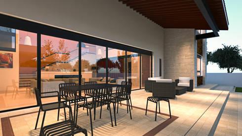 Terraza: Terrazas de estilo  por Laboratorio Mexicano de Arquitectura