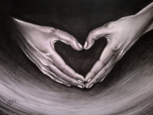 Heart in hand:  Artwork by Indian Art Ideas