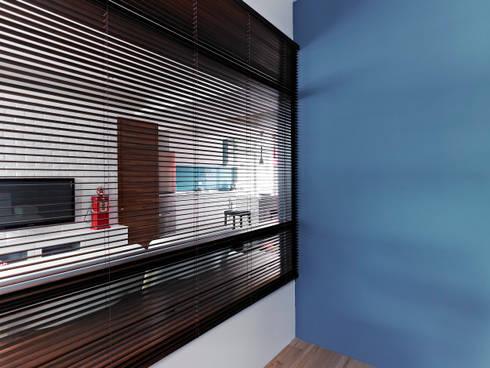 美式都會的時尚風格-寫意人生的輕快節奏:  臥室 by 采金房 Interior Design