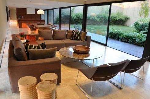 Lee Ann & Marcus' House: modern Living room by www.mezzanineinteriors.co.za