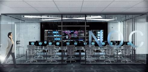 Render de oficina NOC.:  de estilo  por argueta+f9 arquitectura