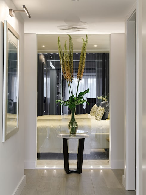 modern Corridor, hallway & stairs by homify