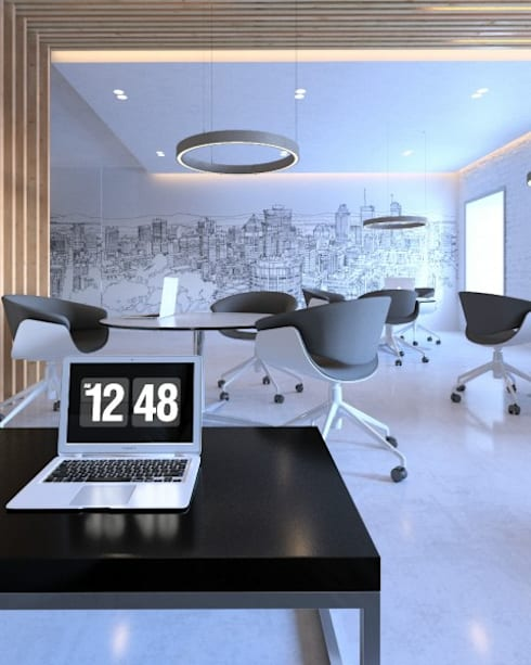 Дизайн офисного пространства в Петербурге: Рабочие кабинеты в . Автор – META-architects архитектурная студия