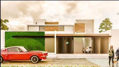 Casa PV: Casas de estilo minimalista por Despacho Integral de Arquitectura y Construccion
