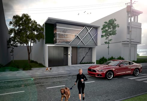 Casa FGG: Casas de estilo minimalista por Despacho Integral de Arquitectura y Construccion