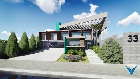 NKα1: Casas modernas por Nankyn Arquitetura & Consultoria