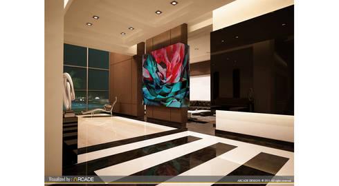 modern Corridor, hallway & stairs by ARCADE DESIGNS