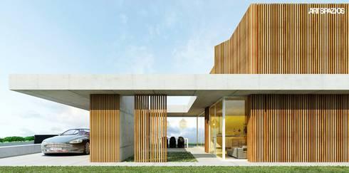 casa AA: Casas modernas por Artspazios, arquitectos e designers