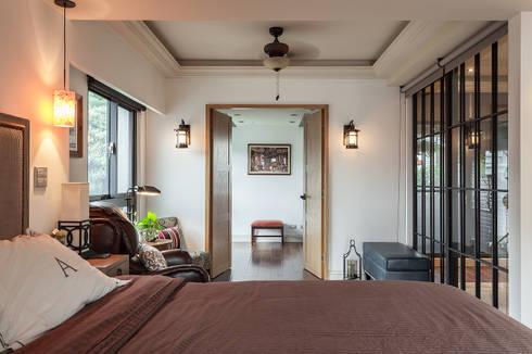 大晴設計 - 微莊園:  臥室 by 大晴設計有限公司
