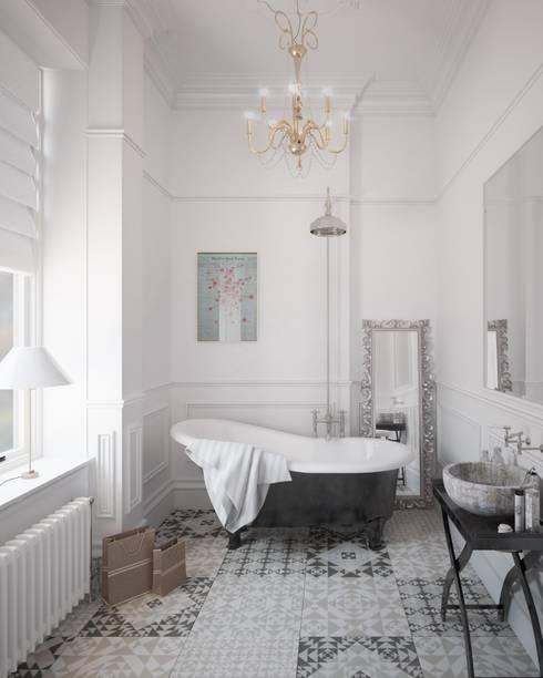 Bathroom CGI Visualisation #1: classic Bathroom by White Crow Studios Ltd