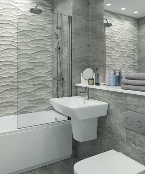 Bathroom CGI Visualisation #2: modern Bathroom by White Crow Studios Ltd