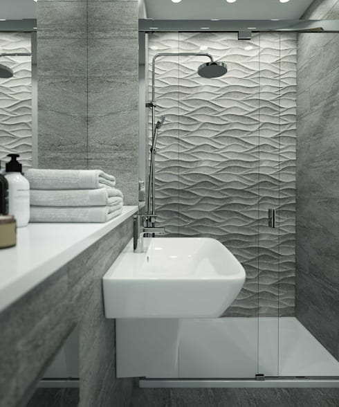 Bathroom CGI Visualisations #4: modern Bathroom by White Crow Studios Ltd