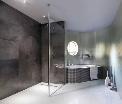 Bathroom CGI Visualisation #7: modern Bathroom by White Crow Studios Ltd
