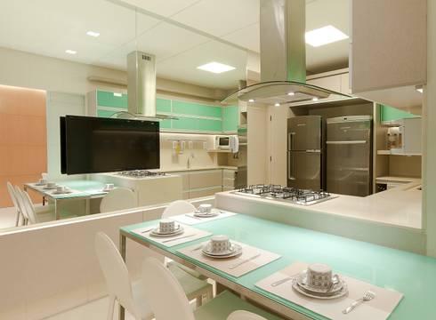 Cozinhas modernas por Matheus Menezes Arquiteto