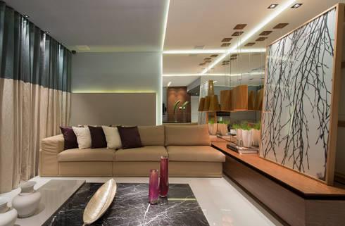 Salas de estar modernas por Matheus Menezes Arquiteto