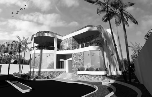 اظهار معمارى لفيلا بالقاهرة villa – cairo:  منازل تنفيذ pm architects