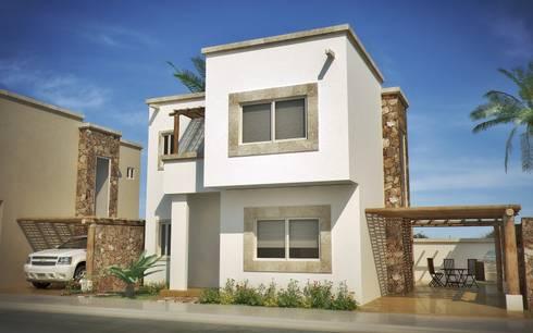 Casa Chametla: Casas de estilo clásico por Gestec