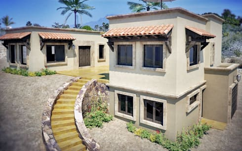 Casa Corlett: Casas de estilo clásico por Gestec