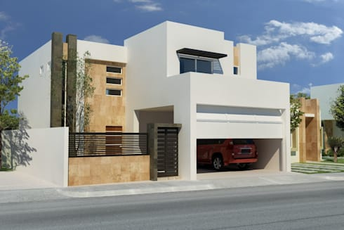 Casa San Patricio: Casas de estilo minimalista por Gestec
