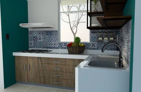 Cocina : Cocinas de estilo moderno por GT-R Arquitectos