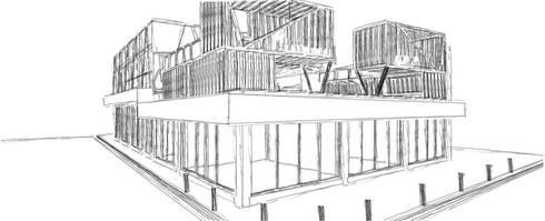 The Central Park. [León, Gto]:  de estilo  por 3C Arquitectos S.A. de C.V.