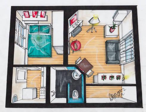 nieuw interieur hofjeswoning schuddegeest den haag woonkamer door