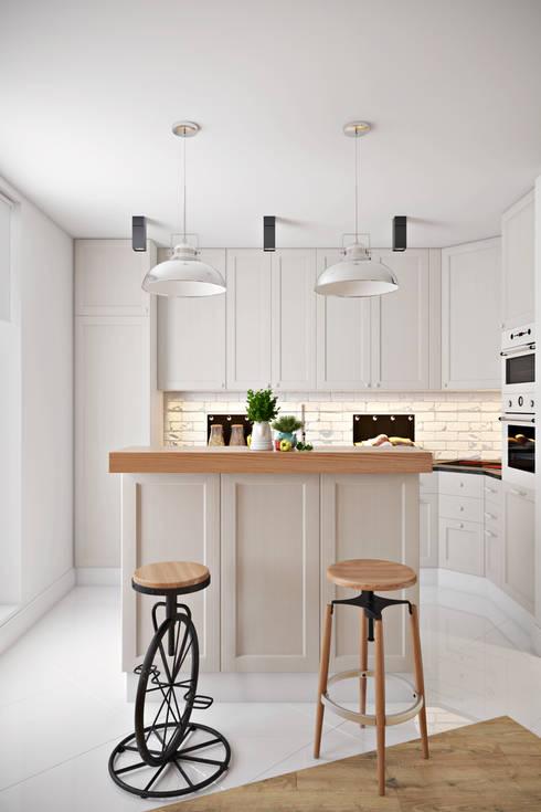 Cocinas de estilo industrial de Дизайн Мира