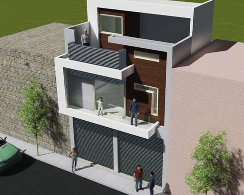 casa habitacion: Casas de estilo moderno por JL2 Arquitectura y Urbanismo