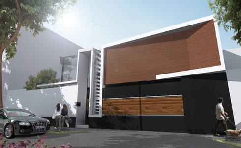 Fachada : Casas de estilo moderno por Arquitectos M253