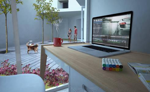 Interiores : Casas de estilo moderno por Arquitectos M253