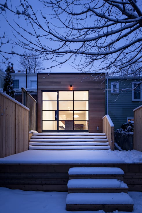 View of Cedar Clad Addition :  Kitchen by STUDIO Z