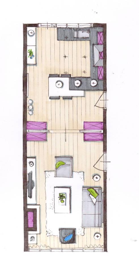 Interieur woonkamer keuken repelaarstraat den haag door for Melchior interieur den haag