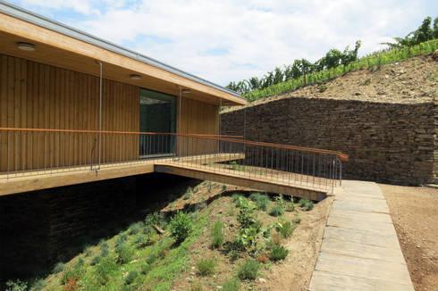 Casa do Rio: Casas modernas por Menos é Mais - Arquitectos Associados