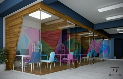 PROPUESTA DE DISEÑO DE AULAS PRIVADAS NEUMANN: Oficinas de estilo moderno por ZP ARQUITECTOS