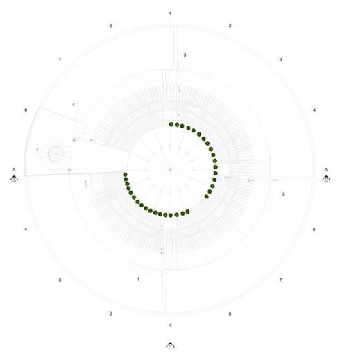 PLANTA NIVEL INFERIOR - 3.40 :  de estilo  por EDUARDO NOVOA ARQUITECTO INDEPENDIENTE