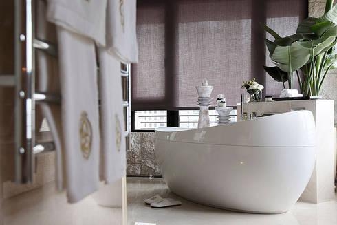【大明大放 | Bright, Open space】:  浴室 by 天坊室內計劃有限公司 TIEN FUN INTERIOR PLANNING CO., LTD.