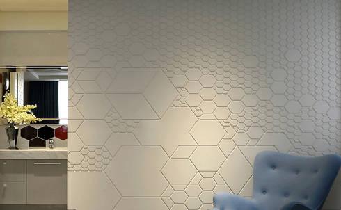 【美好生活,就是這樣   A better life, that is it.】:  牆面 by 天坊室內計劃有限公司 TIEN FUN INTERIOR PLANNING CO., LTD.