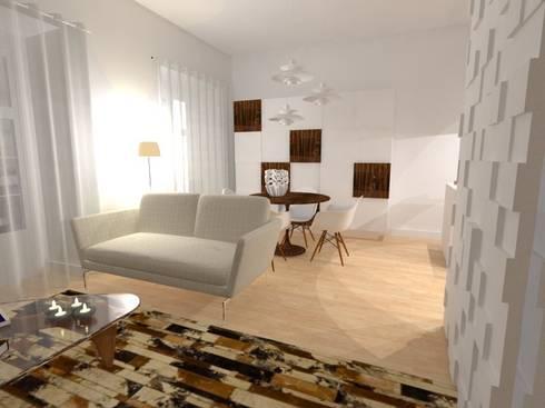 CASA AUGUSTA - Sala Comum: Salas de jantar modernas por EGO Interior Design