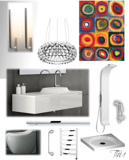 CASA AUGUSTA - Casa de banho: Casas de banho modernas por EGO Interior Design