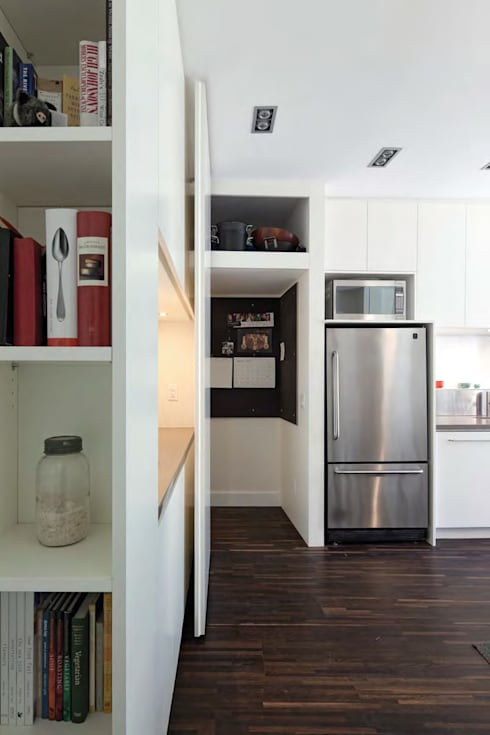 Custom Hidden Door to basement:  Kitchen by STUDIO Z