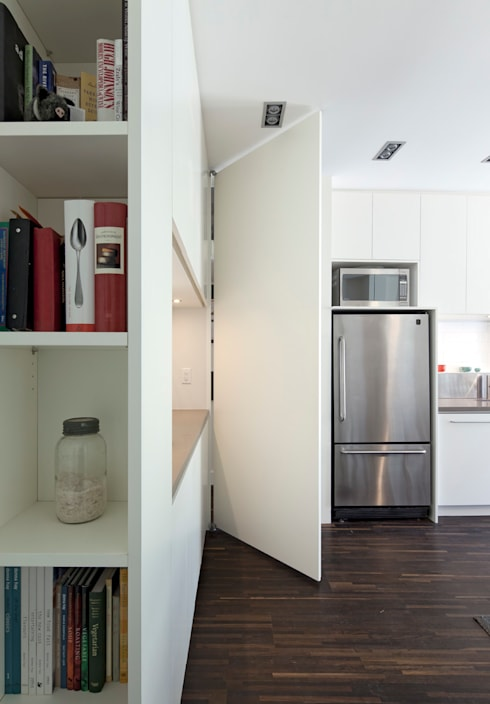 Custom Hidden Door to basement: modern Kitchen by STUDIO Z