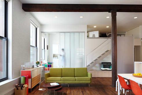 Bento Box Loft, Koko Architecture + Design: modern Living room by Koko Architecture + Design