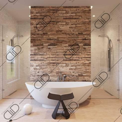 Interior Design and Rendering: modern Bathroom by Design Studio AiD