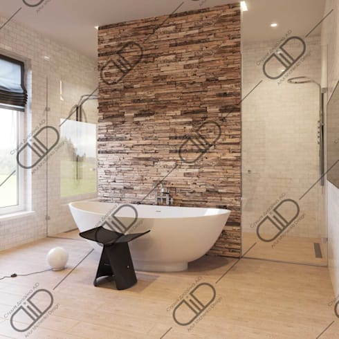 Interior Design and Rendering: minimalistic Bathroom by Design Studio AiD