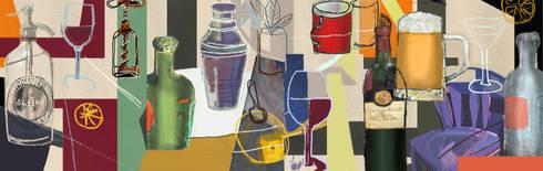 Boceto 1: Arte de estilo  por ANTAVIA WALL DECOR