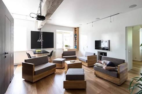 Remodelación Casa: Salas de estilo moderno por casas eco constructora
