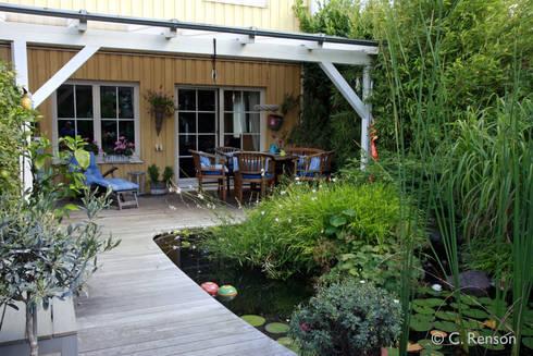 reihenhausgarten mit teich von dirlenbach garten mit stil homify. Black Bedroom Furniture Sets. Home Design Ideas